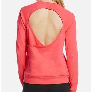 Fabletics Hot Pink Open Back Ginger Pullover